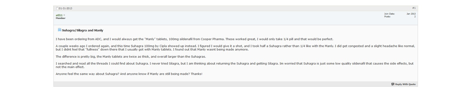 Suhagra 50mg Reviews