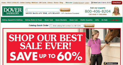 Dover saddlery discount coupons