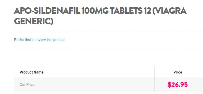 tablets sildenafil apo 100mg