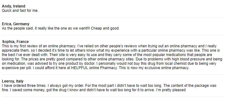 Cheap Pills Customer Testimonials